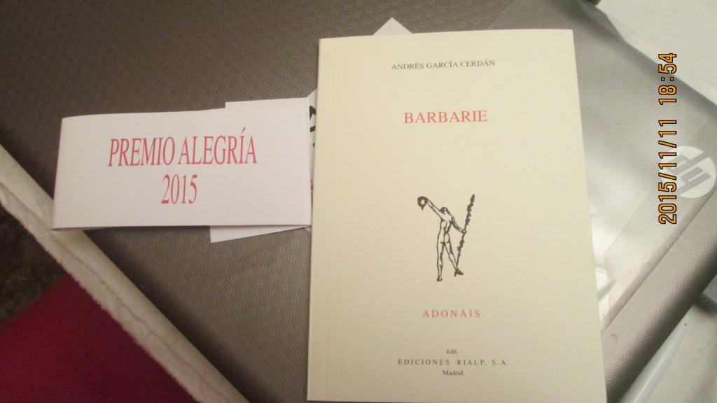 barbarie, libro
