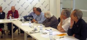 Un momento de la reunión, con la intervención de Manuel Gahete