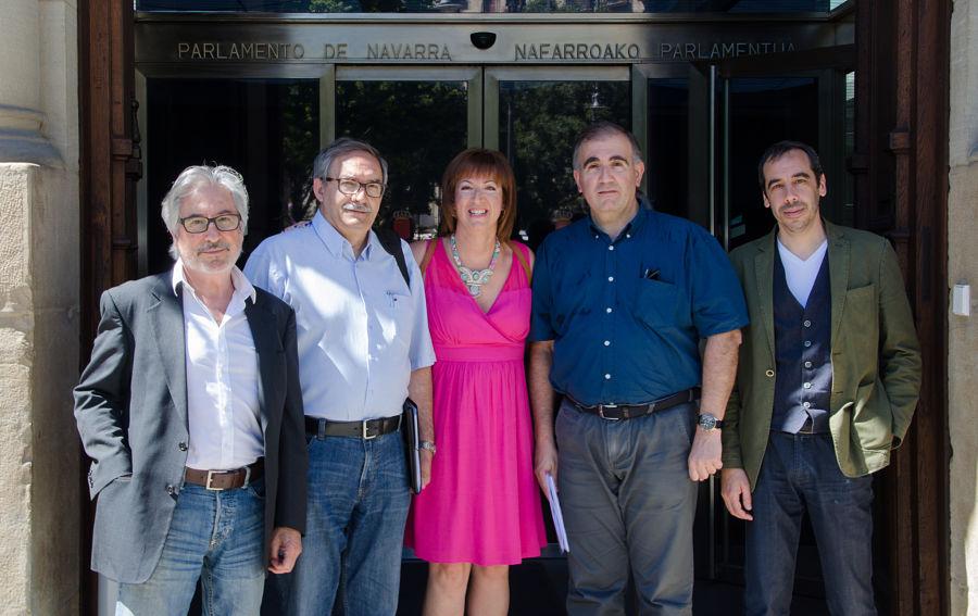 De izquierda a derecha, Javier de Juan, Manuel Rico, Fátima Frutos, Miguel Izu y Carlos Bassa