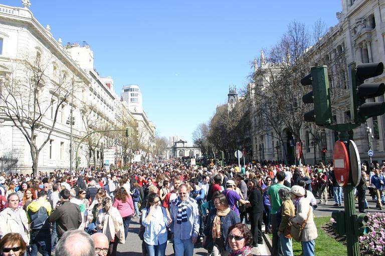 Fiesta-manifestación en Madrid Todos Somos Cultura
